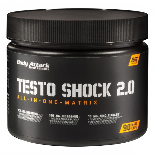 Body Attack Testo Shock 2.0- 90 Maxi Caps