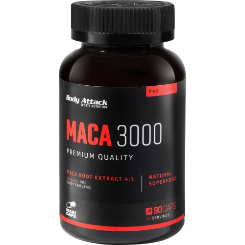 Body Attack Maca 3000- 90 Caps