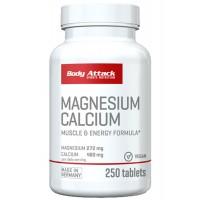 Body Attack Magnesium and Calcium- 250 Tabs