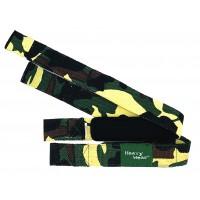 Heavywear Padded Lifting Straps, Green Camo (H5)